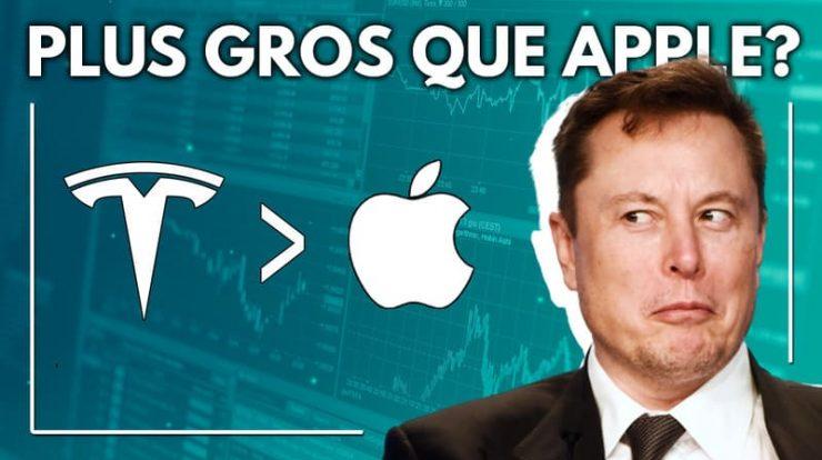 Tesla en passe de dépasser Apple?